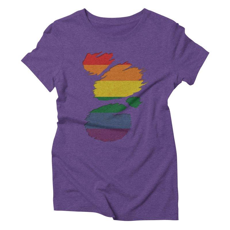 LGBT Inside Women's Triblend T-Shirt by Fathi