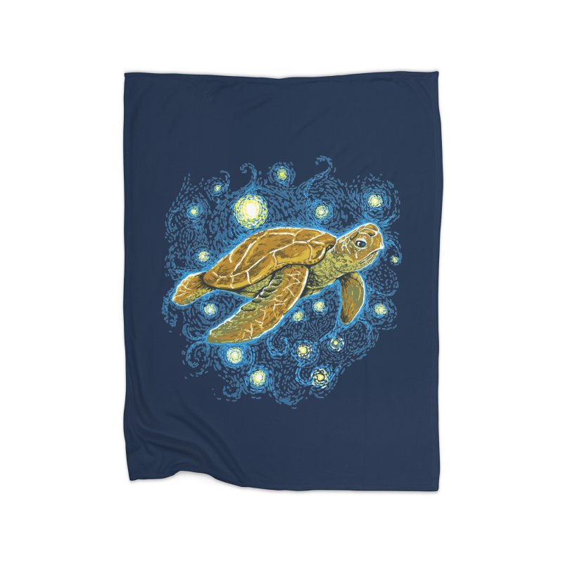 Starry Night Turtle Home Blanket by Fathi