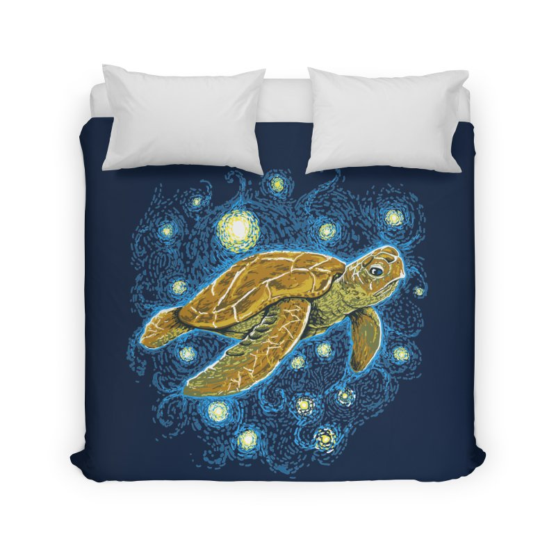 Starry Night Turtle Home Duvet by Fathi