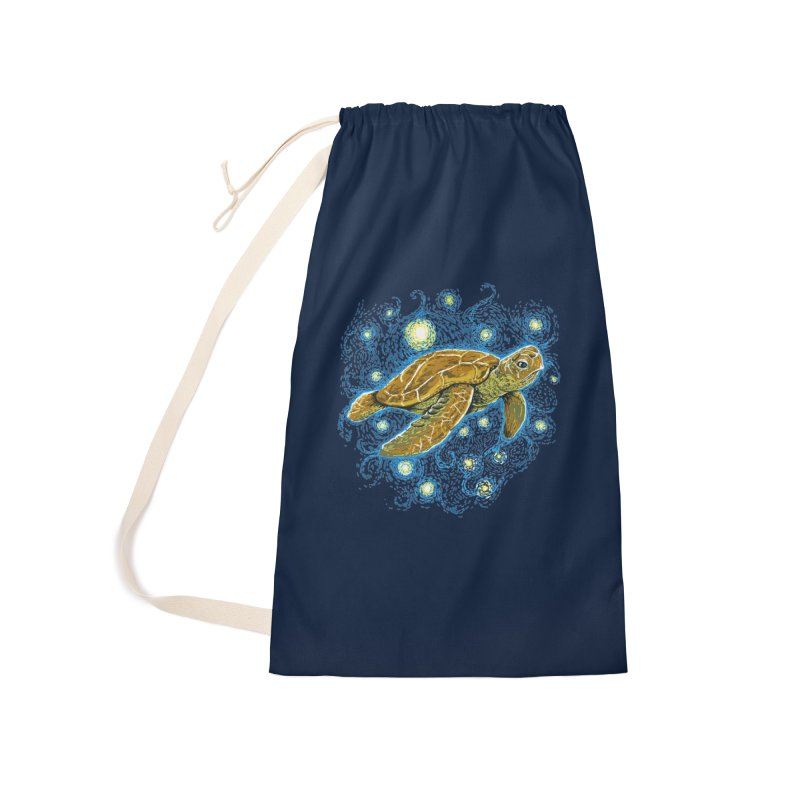 Starry Night Turtle Accessories Laundry Bag Bag by Fathi