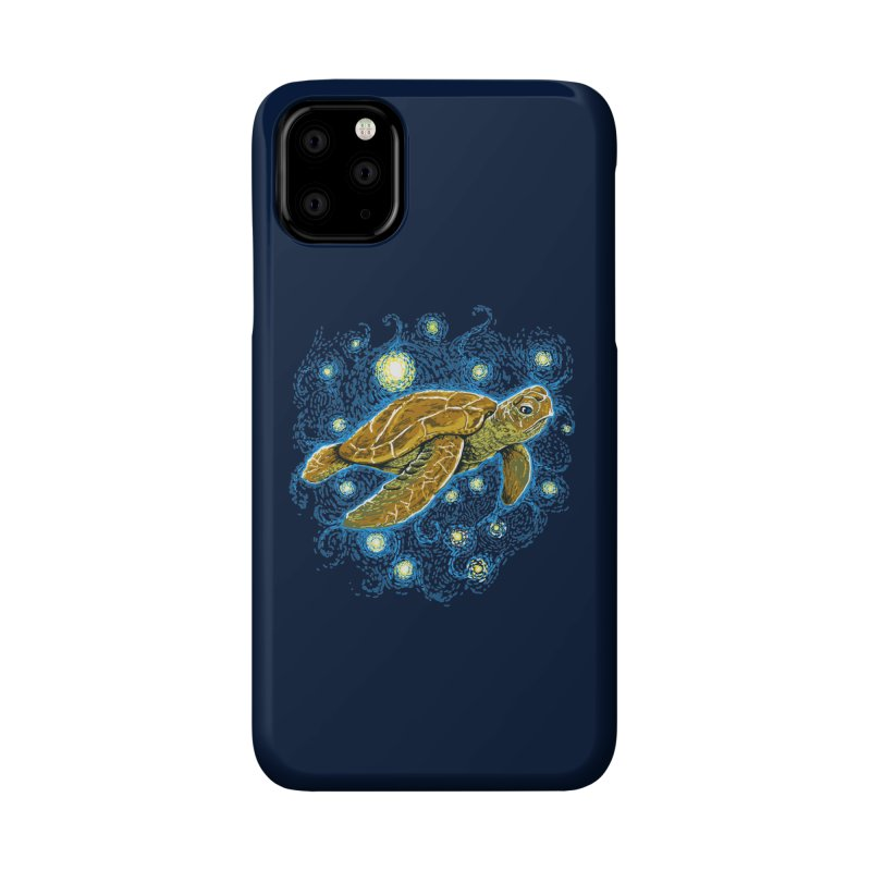 Starry Night Turtle Accessories Phone Case by Fathi
