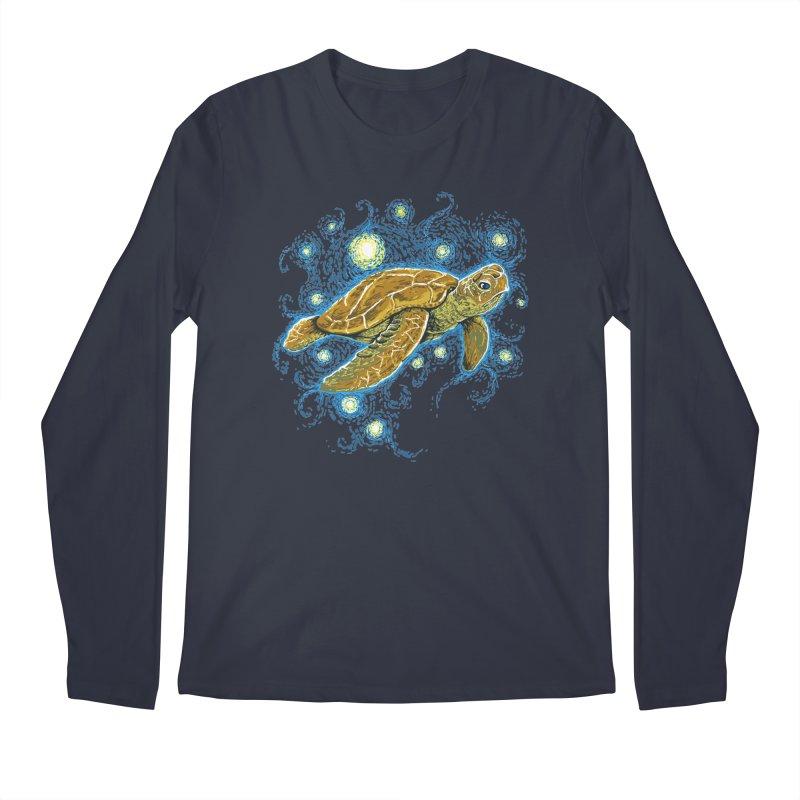 Starry Night Turtle Men's Longsleeve T-Shirt by Fathi
