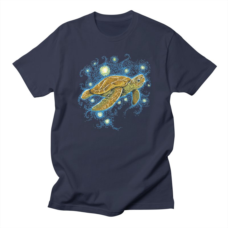 Starry Night Turtle Men's T-shirt by Fathi