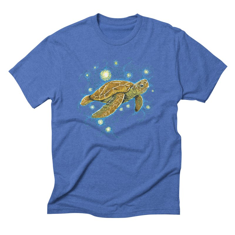 Starry Night Turtle Men's Triblend T-shirt by Fathi