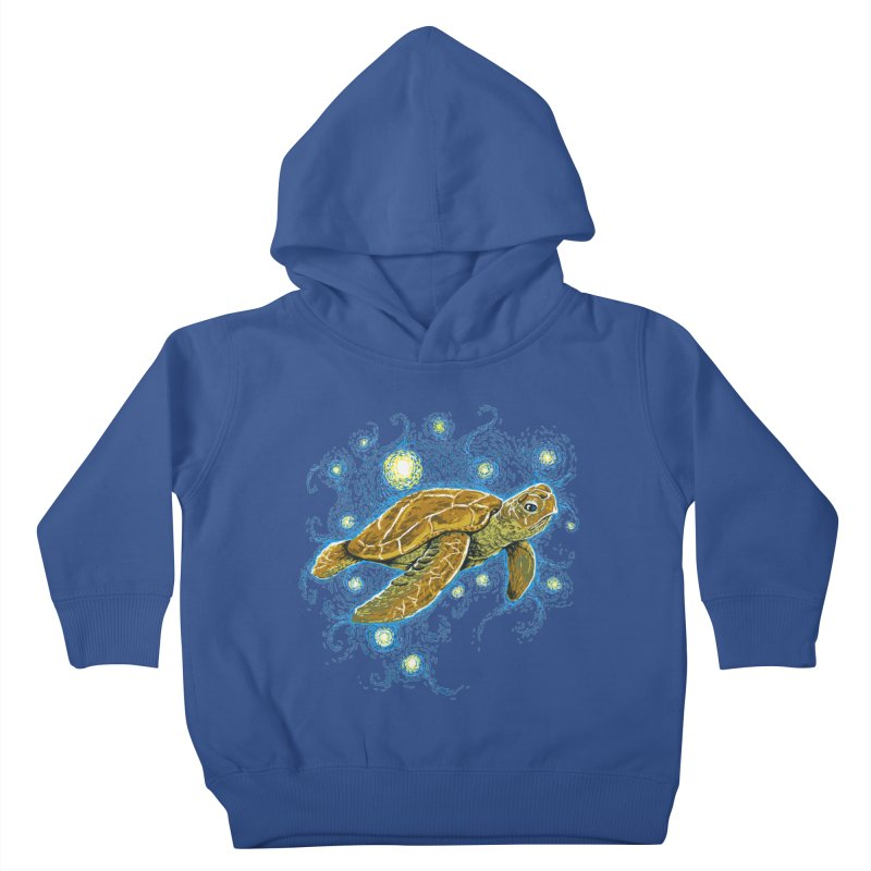 Starry Night Turtle Kids Toddler Pullover Hoody by Fathi