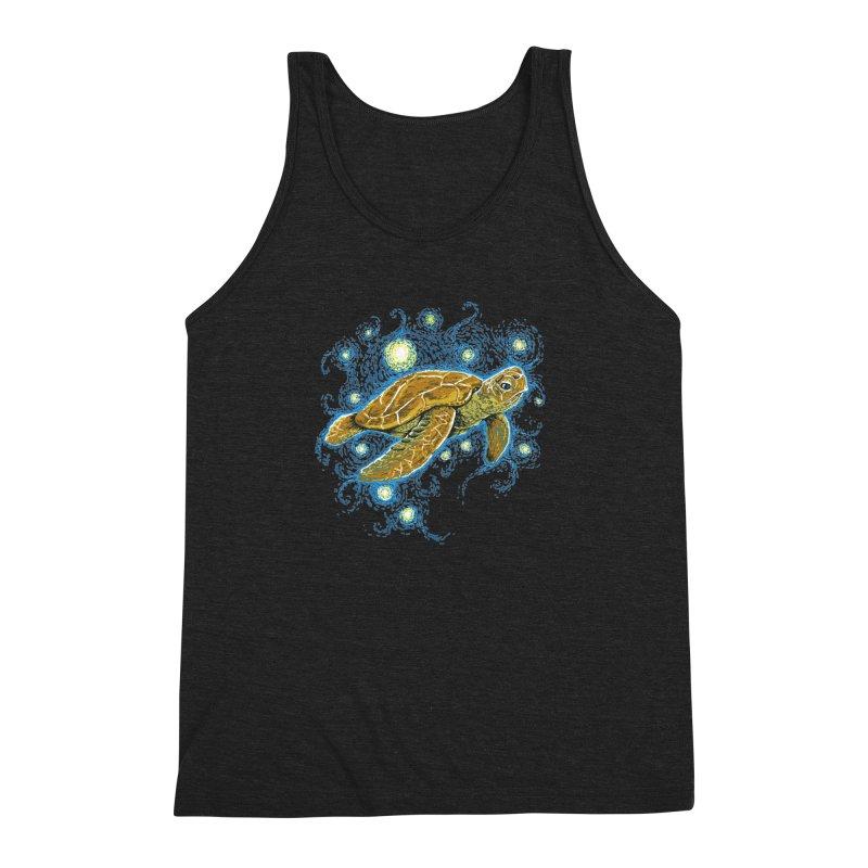 Starry Night Turtle Men's Triblend Tank by Fathi