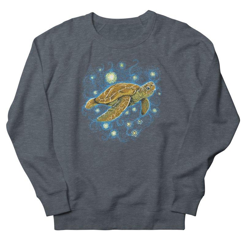 Starry Night Turtle Men's Sweatshirt by Fathi