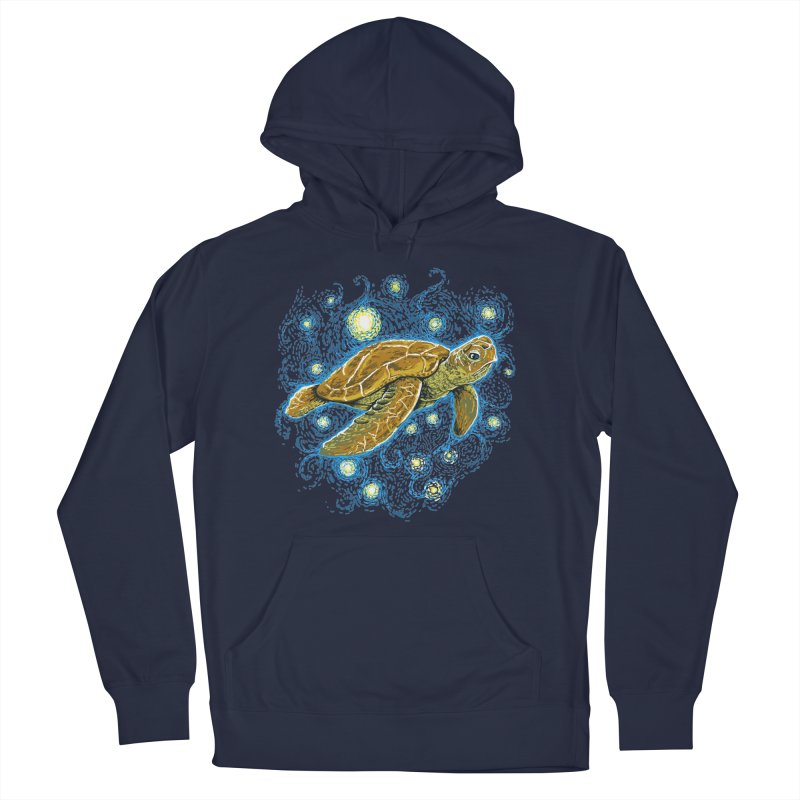Starry Night Turtle Men's Pullover Hoody by Fathi