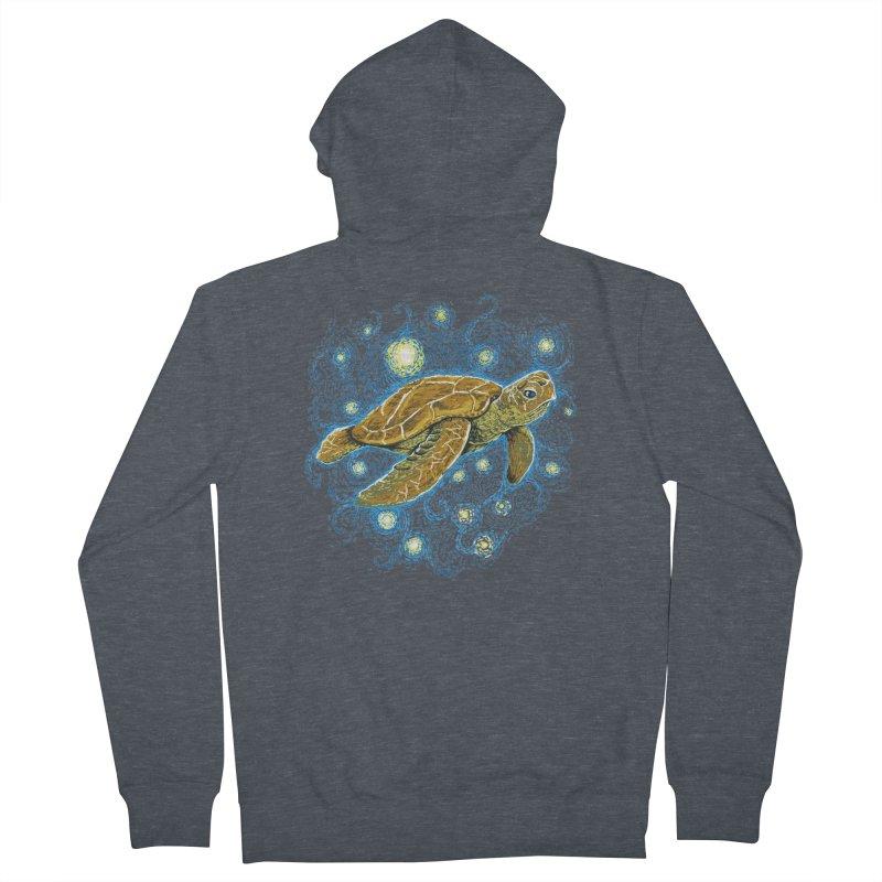 Starry Night Turtle Women's Zip-Up Hoody by Fathi