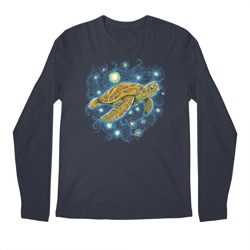 Starry Night Turtle Men's Longsleeve T-Shirt by Fathi