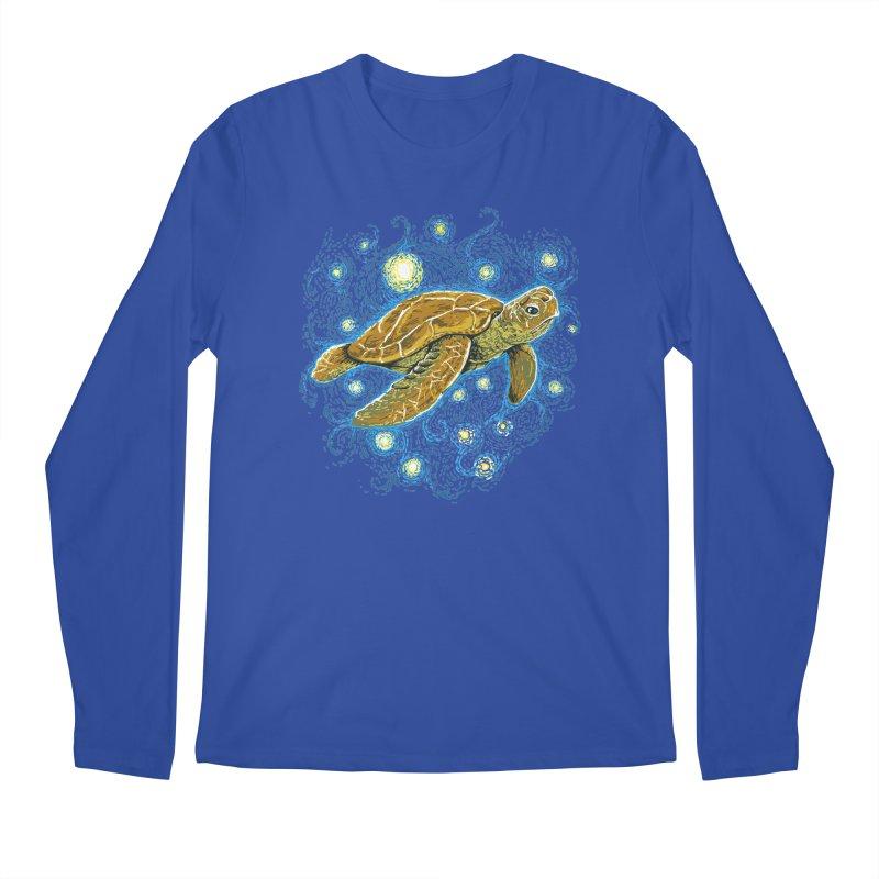 Starry Night Turtle Men's Regular Longsleeve T-Shirt by Fathi