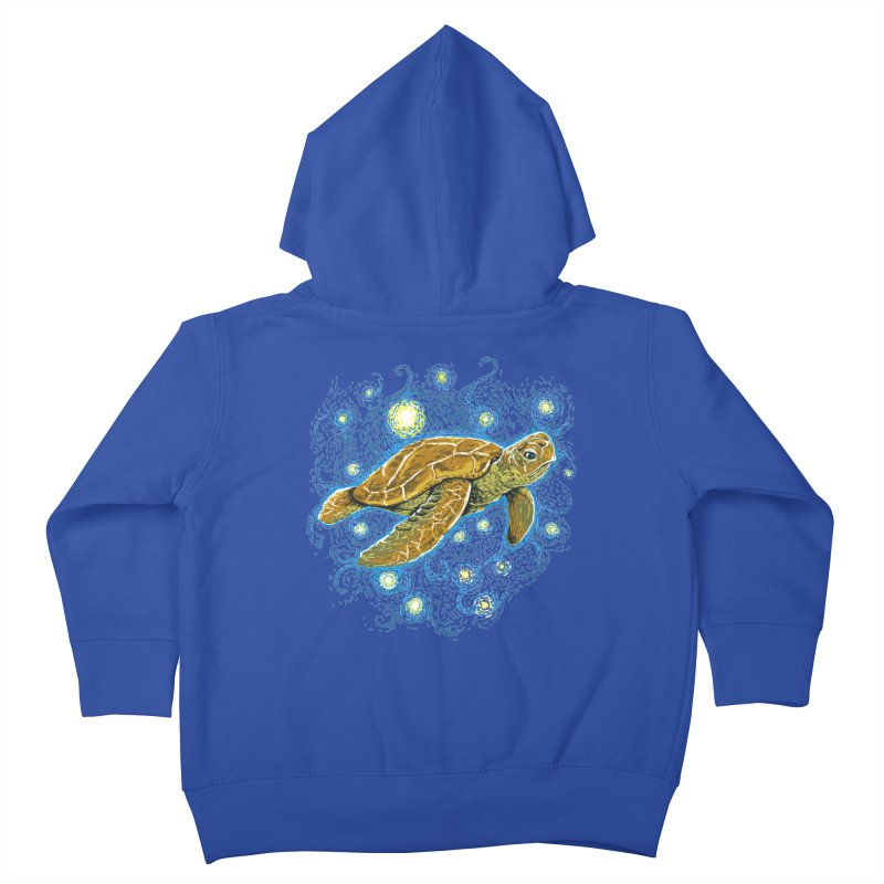 Starry Night Turtle Kids Toddler Zip-Up Hoody by Fathi