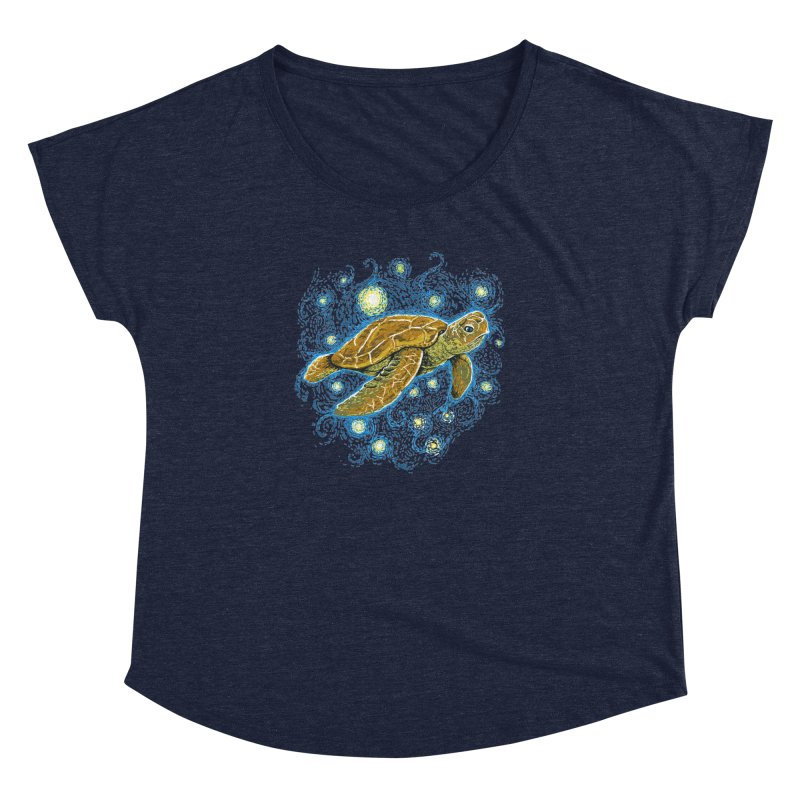 Starry Night Turtle Women's Scoop Neck by Fathi