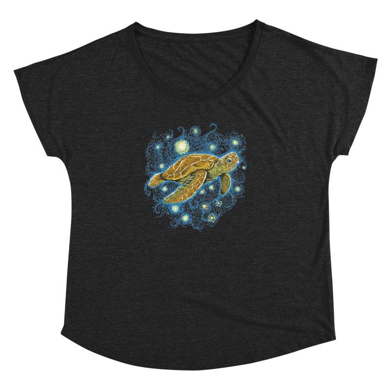 Starry Night Turtle Women's Dolman by Fathi