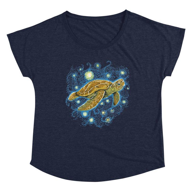 Starry Night Turtle Women's Scoop Neck by Fathi