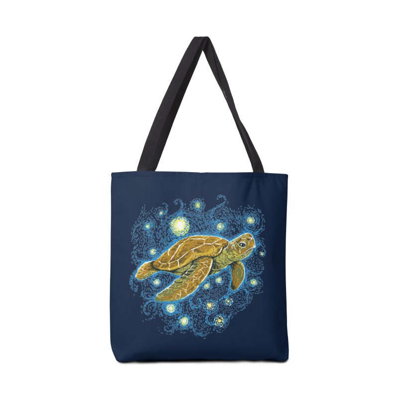 Starry Night Turtle Accessories Tote Bag Bag by Fathi