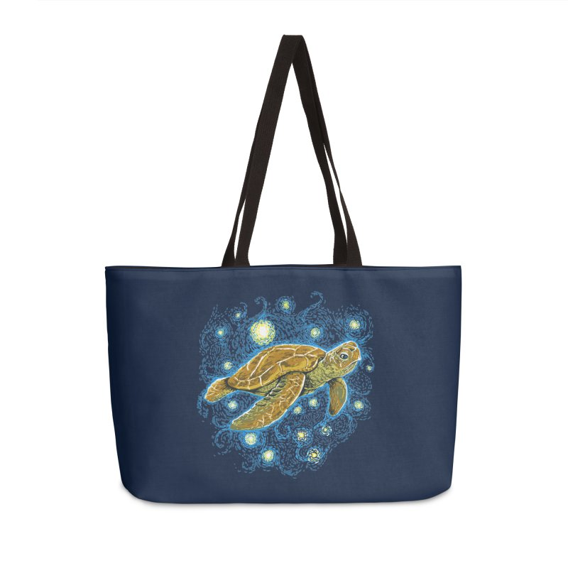 Starry Night Turtle Accessories Weekender Bag Bag by Fathi
