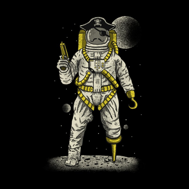 Astronaut Pirate Kids Baby T-Shirt by Fathi