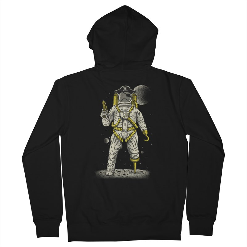Astronaut Pirate Men's Zip-Up Hoody by Fathi