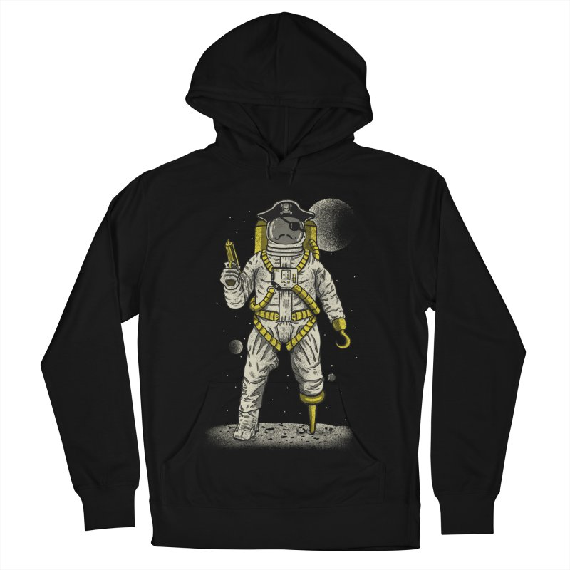 Astronaut Pirate Men's French Terry Pullover Hoody by Fathi