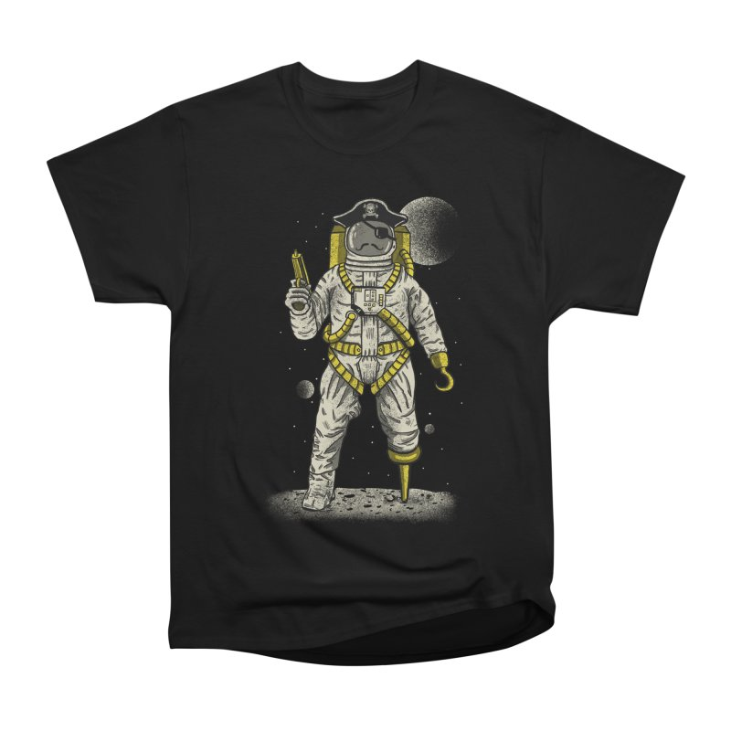 Astronaut Pirate Women's Heavyweight Unisex T-Shirt by Fathi