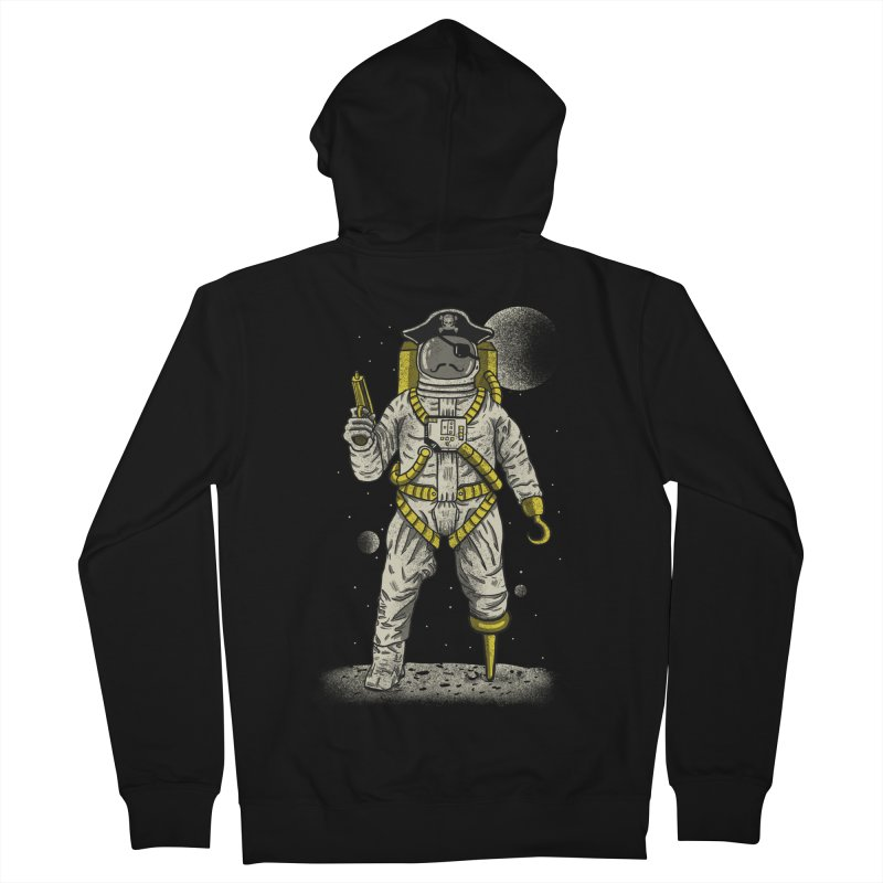 Astronaut Pirate Men's French Terry Zip-Up Hoody by Fathi