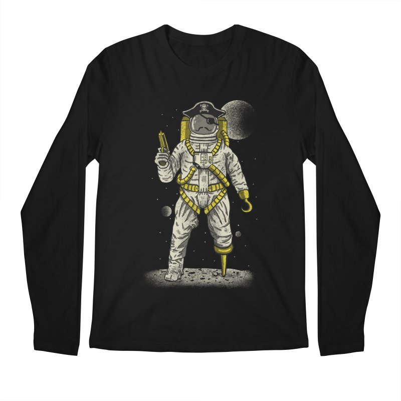 Astronaut Pirate Men's Regular Longsleeve T-Shirt by Fathi