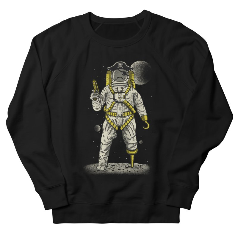 Astronaut Pirate Men's French Terry Sweatshirt by Fathi