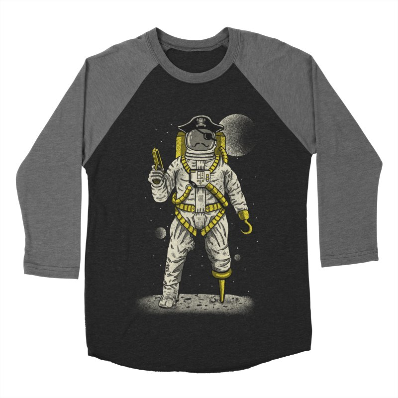 Astronaut Pirate Men's Baseball Triblend Longsleeve T-Shirt by Fathi