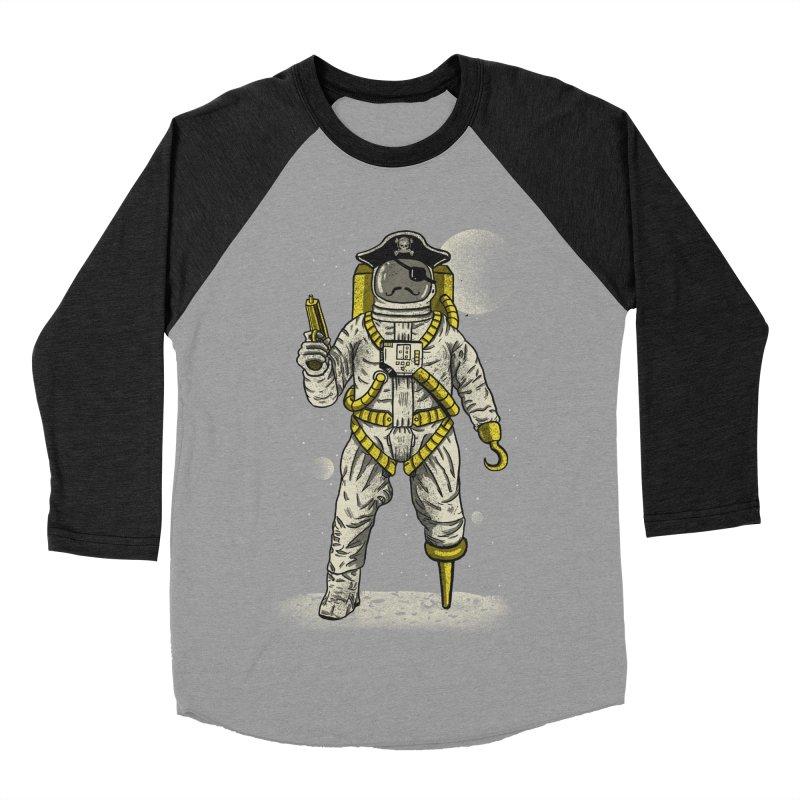 Astronaut Pirate Men's Baseball Triblend T-Shirt by Fathi