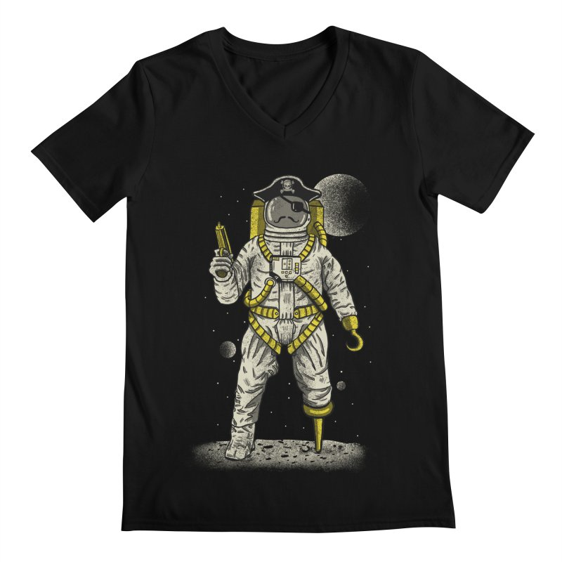 Astronaut Pirate Men's Regular V-Neck by Fathi