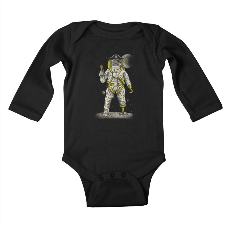 Astronaut Pirate Kids Baby Longsleeve Bodysuit by Fathi