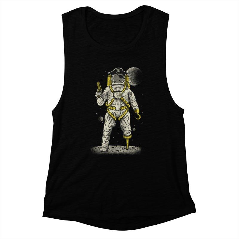 Astronaut Pirate Women's Muscle Tank by Fathi