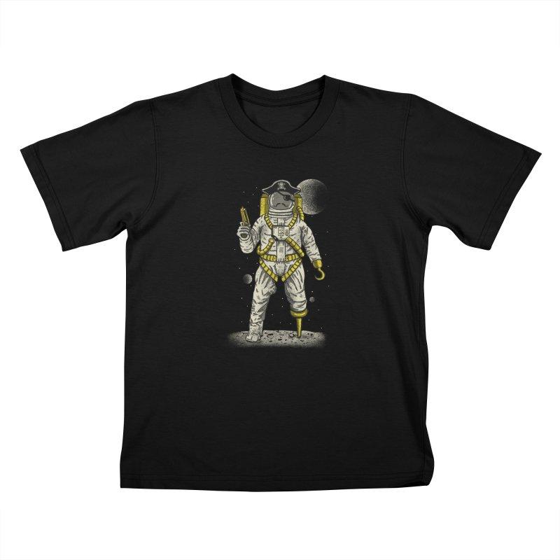 Astronaut Pirate Kids T-Shirt by Fathi