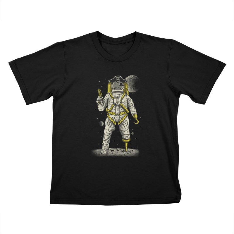 Astronaut Pirate Kids T-Shirt by Fathi