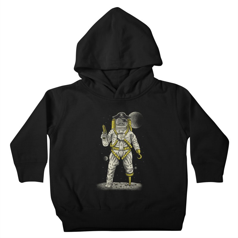 Astronaut Pirate Kids Toddler Pullover Hoody by Fathi