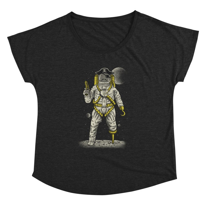Astronaut Pirate Women's Dolman Scoop Neck by Fathi