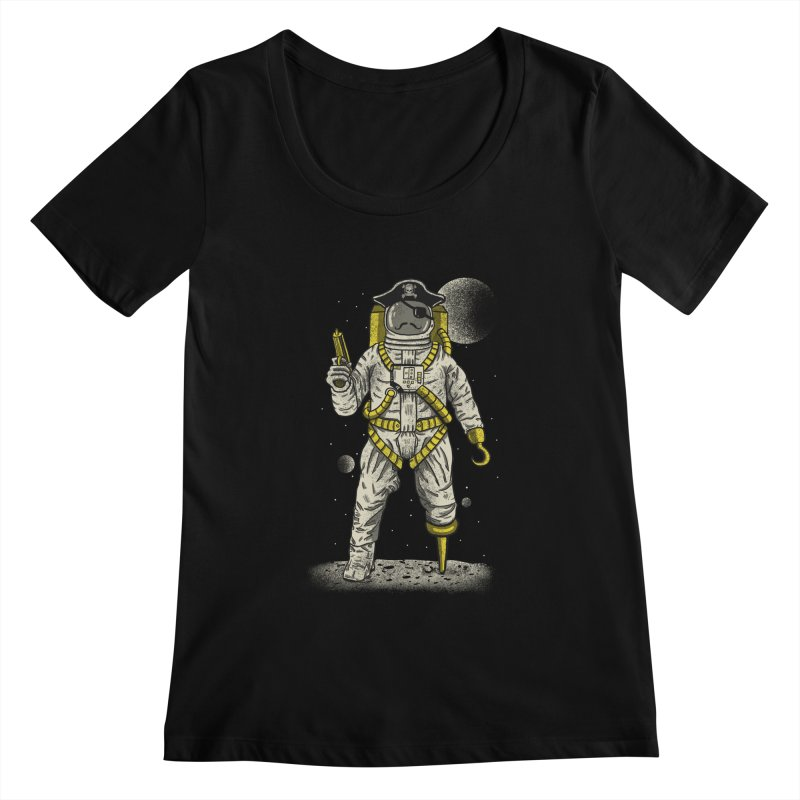 Astronaut Pirate Women's Scoopneck by Fathi