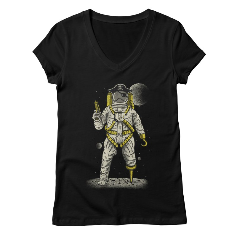 Astronaut Pirate Women's Regular V-Neck by Fathi