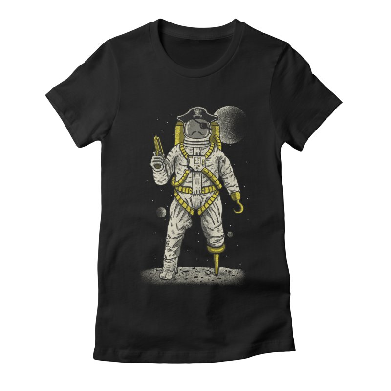 Astronaut Pirate Women's Fitted T-Shirt by Fathi