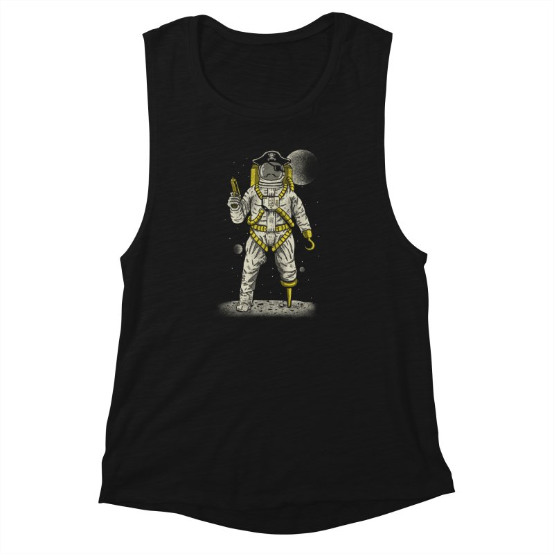 Astronaut Pirate Women's Muscle Tank by Fathi