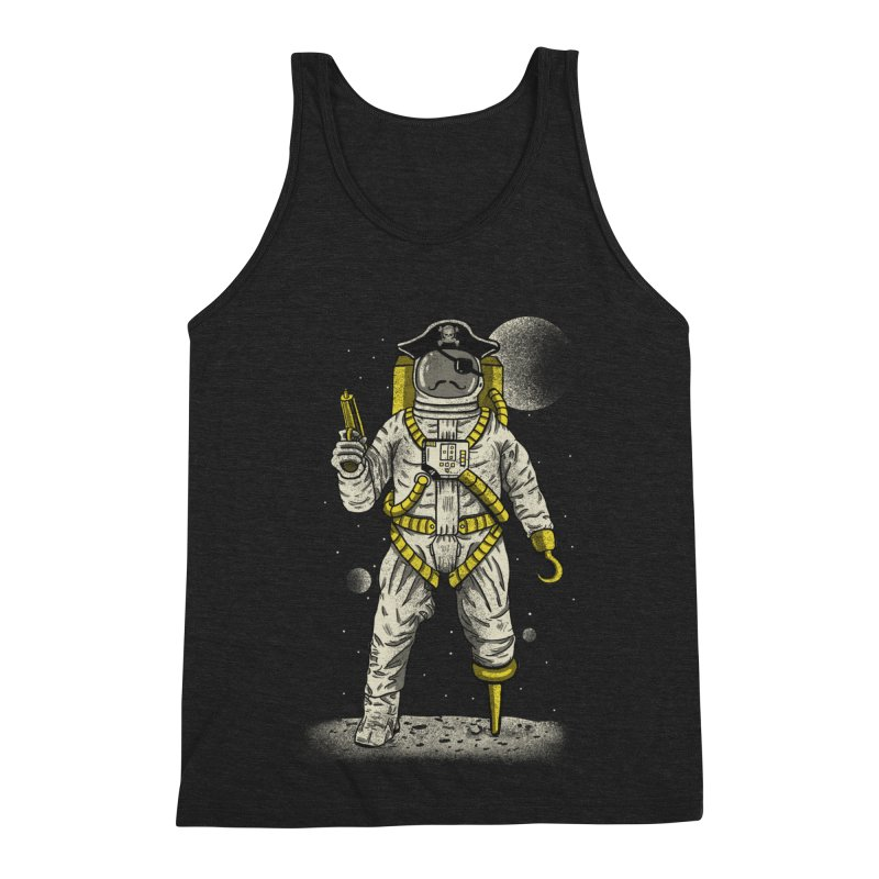 Astronaut Pirate Men's Triblend Tank by Fathi