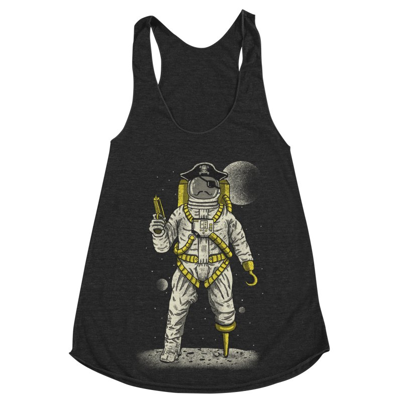 Astronaut Pirate Women's Racerback Triblend Tank by Fathi