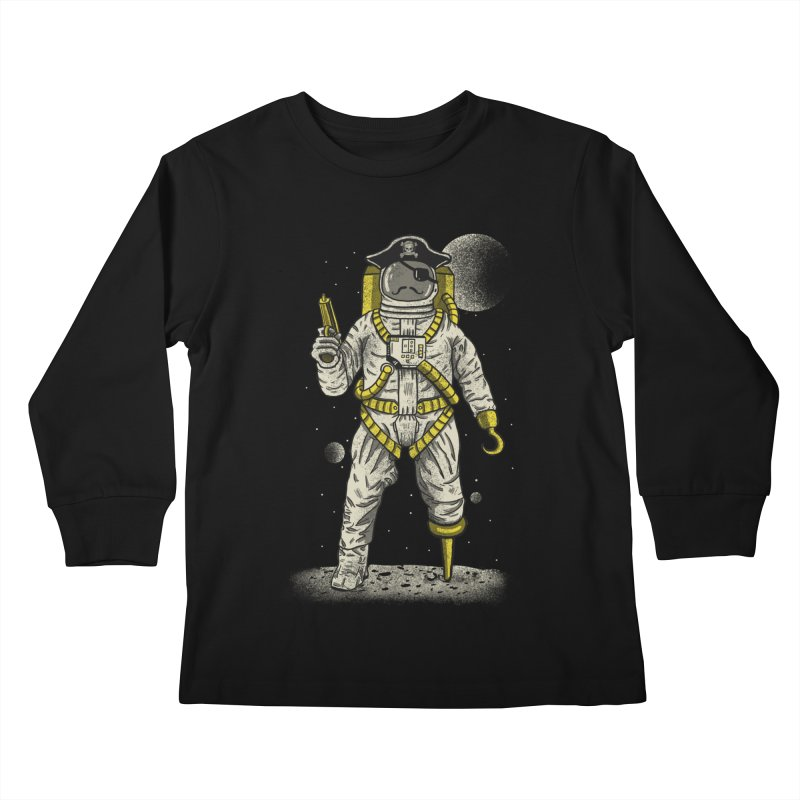 Astronaut Pirate Kids Longsleeve T-Shirt by Fathi
