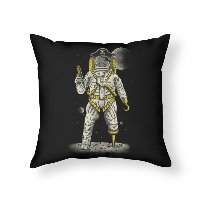 Astronaut Pirate Home Throw Pillow by Fathi