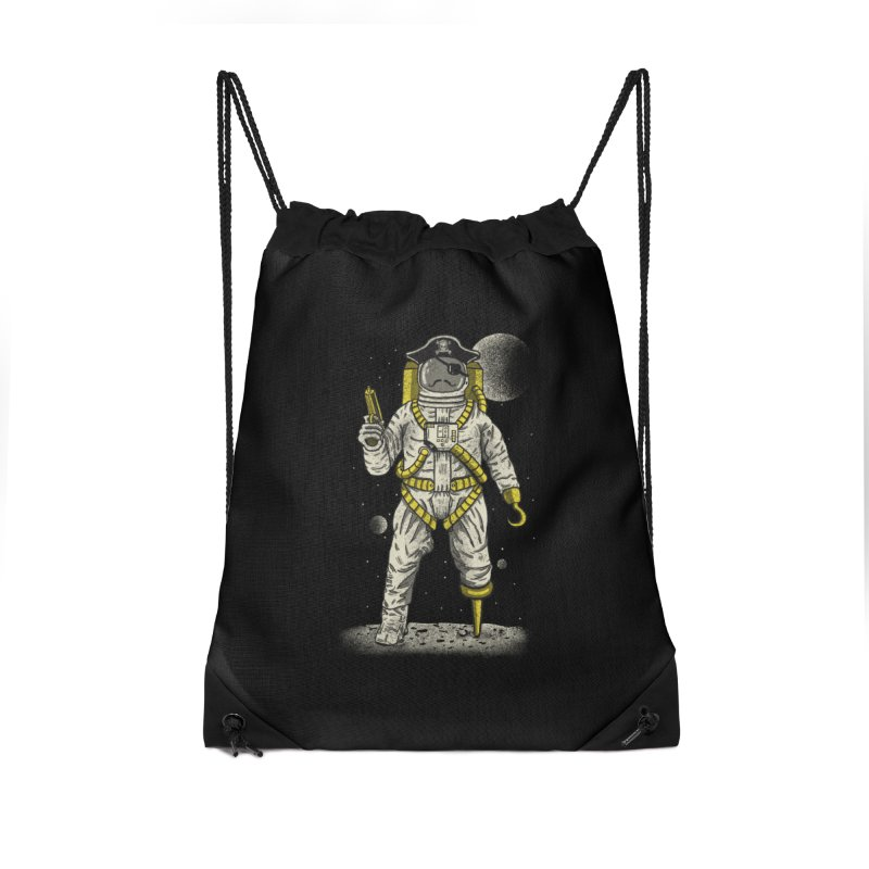Astronaut Pirate Accessories Drawstring Bag Bag by Fathi