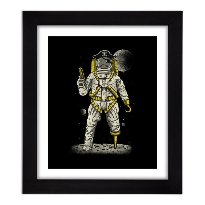 Astronaut Pirate Home Framed Fine Art Print by Fathi