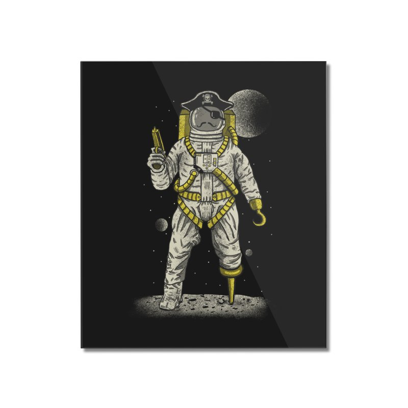 Astronaut Pirate Home Mounted Acrylic Print by Fathi