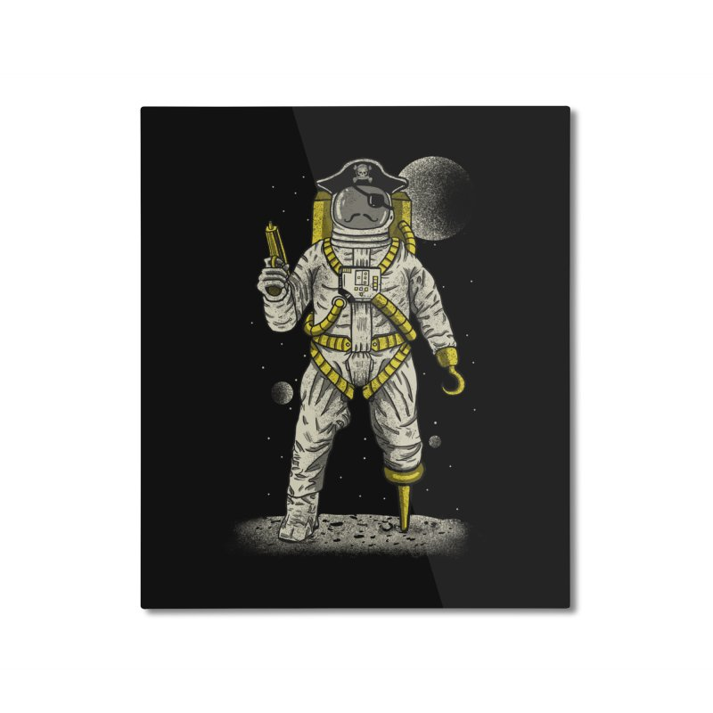 Astronaut Pirate Home Mounted Aluminum Print by Fathi