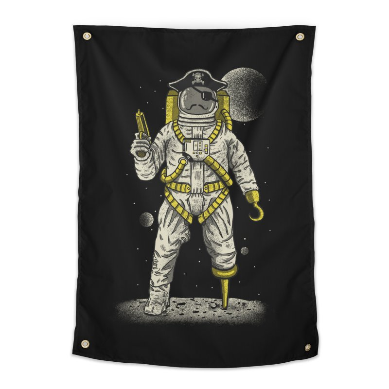 Astronaut Pirate Home Tapestry by Fathi